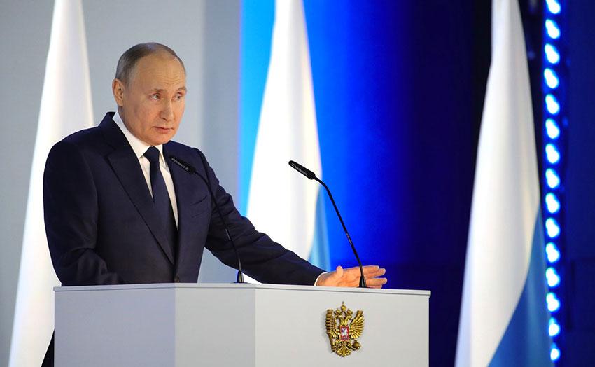Vladimir Poutine à l'Assemblée Fédérale